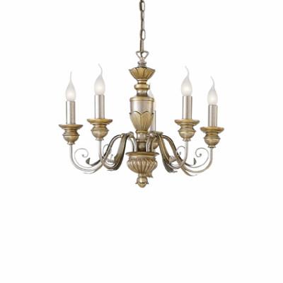 Ideal Lux - Chandelier - DORA SP5 - Lampada a sospensione - Oro - LS-IL-020822