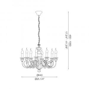 Ideal Lux - Chandelier - DORA SP8 - Lampada a sospensione