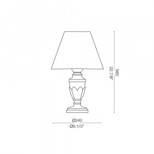 Ideal Lux - Chandelier - DORA TL1 SMALL - Lampada da tavolo