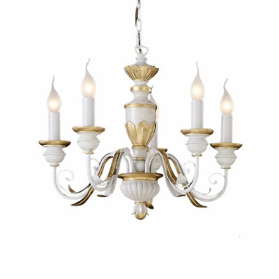 Ideal Lux - Chandelier - FIRENZE SP5 - Lampada a sospensione - Bianco antico - LS-IL-012865