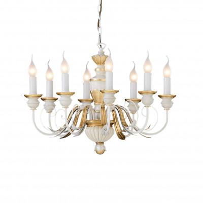 Ideal Lux - Chandelier - FIRENZE SP8 - Lampada a sospensione - Bianco antico - LS-IL-012872