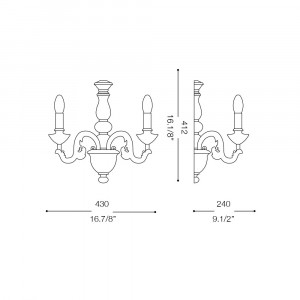 Ideal Lux - Chandelier - Giglio AP2 - Applique