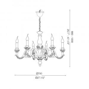 Ideal Lux - Chandelier - Giglio SP6 - Lampada a sospensione