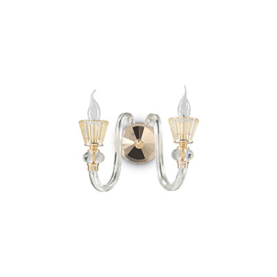 Ideal Lux - Chandelier - Strauss AP2 - Lampada da parete - Oro - LS-IL-140599