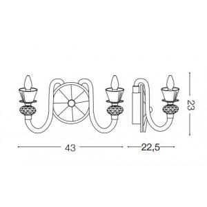 Ideal Lux - Chandelier - Strauss AP2 - Lampada da parete