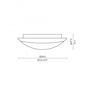Ideal Lux - Circle - DONY-2 PL3 - Applique / Plafoniera