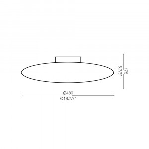 Ideal Lux - Circle - GLORY PL3 D50 - Plafoniera