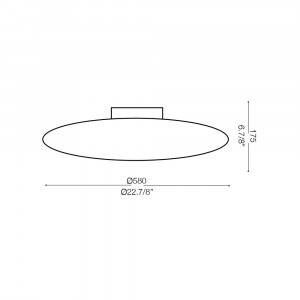 Ideal Lux - Circle - GLORY PL5 D60 - Plafoniera