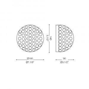 Ideal Lux - Diamonds - ORION AP2 - Applique da parete