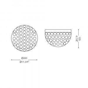 Ideal Lux - Diamonds - ORION PL3 - Plafoniera
