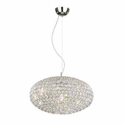 Ideal Lux - Diamonds - ORION SP6 - Lampada a sospensione - Cromo - LS-IL-059181