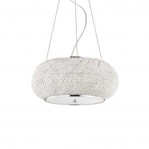 Ideal Lux - Diamonds - Pasha' SP6 - Lampada a sospensione con perle di cristallo