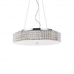 Ideal Lux - Diamonds - Roma SP9 - Lampadario con diffusore rotondo da 9 luci
