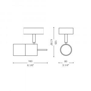 Ideal Lux - Direction - ELIS AP1 - Applique