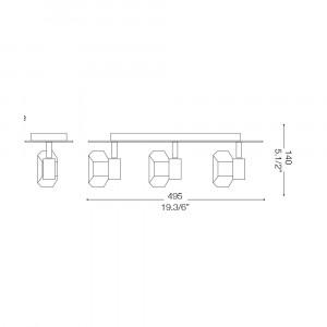 Ideal Lux - Direction - NOSTALGIA AP3 - Applique