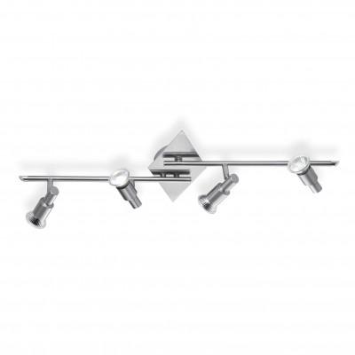 Ideal Lux - Direction - SLEM PB4 - Plafoniera - Nichel satinato - LS-IL-018850