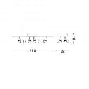 Ideal Lux - Direction - SLEM PB4 - Plafoniera