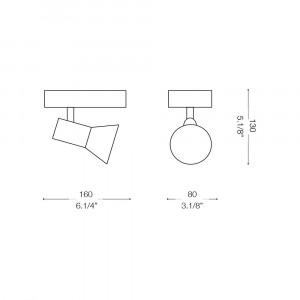 Ideal Lux - Direction - SNAKE AP1 - Applique