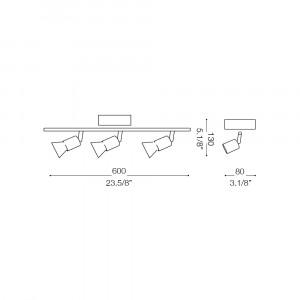 Ideal Lux - Direction - SNAKE AP3 - Applique