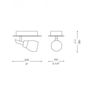 Ideal Lux - Direction - SOFFIO AP1 - Applique