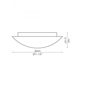 Ideal Lux - Essential - LANA PL2 - Plafoniera