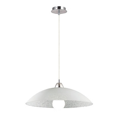 Ideal Lux - Essential - LANA SP1 D50 - Lampada a sospensione - Bianco - LS-IL-068169