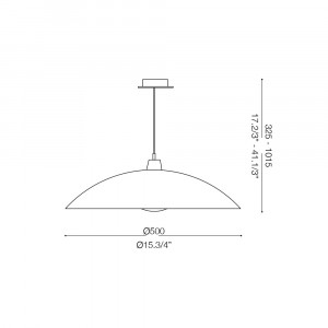 Ideal Lux - Essential - LANA SP1 D50 - Lampada a sospensione