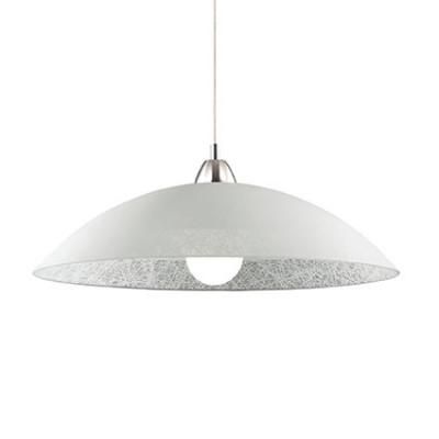 Ideal Lux - Essential - LANA SP1 D60 - Lampada a sospensione - Bianco - LS-IL-068176