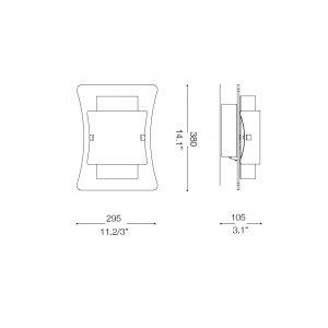 Ideal Lux - Essential - TRIPLO AP2 - Applique
