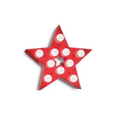 Ideal Lux - Fun - Circus-2 AP10 - Applique per cameretta bambini - Rosso - LS-IL-221342