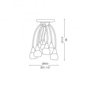 Ideal Lux - Fun - TENDER PL8 - Lampada da parete / soffitto