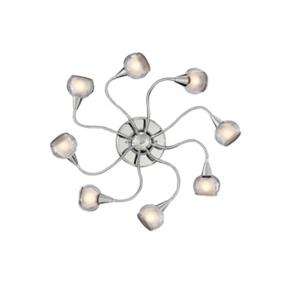 Ideal Lux - Fun - TENDER PL8 - Lampada da parete / soffitto - Trasparente - LS-IL-004211