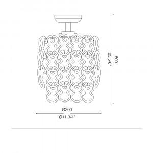 Ideal Lux - Glass - ALBA PL4 - Plafoniera