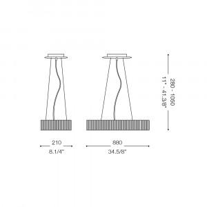 Ideal Lux - Glass - QUASAR SB12 - Lampada a sospensione