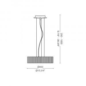 Ideal Lux - Glass - QUASAR SP6 - Lampada a sospensione