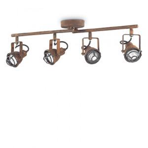 Ideal Lux - Industrial - Bob Mini Pl4 - Lampada da soffitto a barra