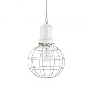 Ideal Lux - Industrial - Cage SP1 Round - Lampada a sospensione