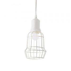 Ideal Lux - Industrial - Cage SP1 Square - Lampada a sospensione