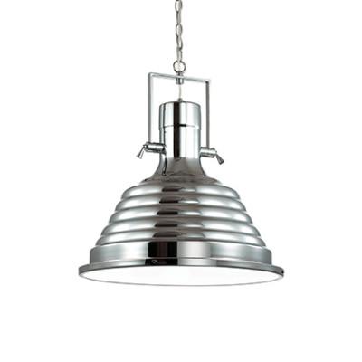 Ideal Lux - Industrial - Fisherman SP1 D48 - Lampada a sospensione - Cromo - LS-IL-125824