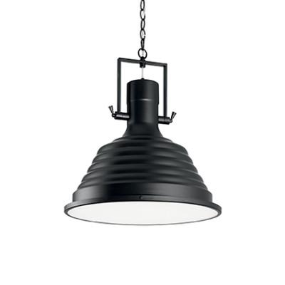 Ideal Lux - Industrial - Fisherman SP1 D48 - Lampada a sospensione - Nero - LS-IL-125831
