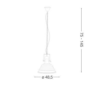 Ideal Lux - Industrial - Fisherman SP1 D48 - Lampada a sospensione