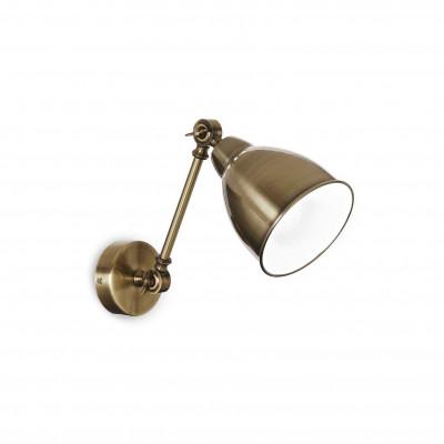 Ideal Lux - Industrial - Newton AP1 - Applique con diffusore orientabile in metallo - Brunito - LS-IL-027876