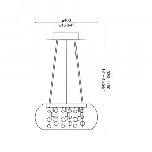Ideal Lux - Luxury - AUDI-80 SP5 - Lampada a sospensione
