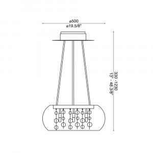 Ideal Lux - Luxury - AUDI-80 SP8 - Lampada a sospensione