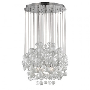 Ideal Lux - Luxury - Bollicine SP14 - Lampadario con bolle di vetro