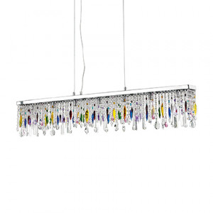 Ideal Lux - Luxury - Giada Color SP7 - Lampada a sospensione a barra
