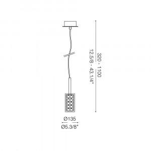Ideal Lux - Luxury - IGUAZU' SP1 - Lampada a sospensione