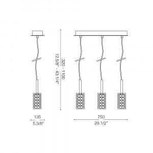 Ideal Lux - Luxury - IGUAZU' SP3 - Lampada a sospensione