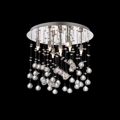 Ideal Lux - Luxury - MOONLIGHT PL8 - Lampada a soffitto - Cromo - LS-IL-077796