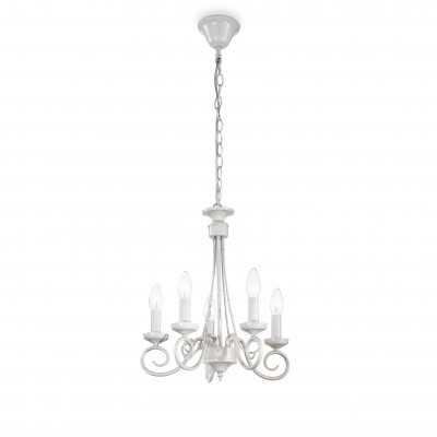 Ideal Lux - Middle Ages - BRANDY SP5 - Lampada a sospensione - Bianco antico - LS-IL-066622
